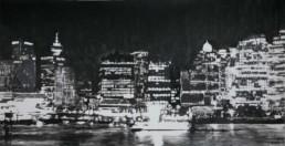 Judith Marin Vancouver peinture acrylique sur toile noir et blanc Canada
