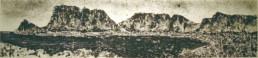 Judith Marin Tablemoutain peinture acrylique sur papier de Cape Town South Africa