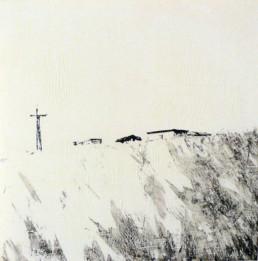 Judith Marin Christ peinture acrylique sur papier South Africa