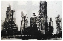 Judith Marin Cake peinture acrylique sur papier de New York