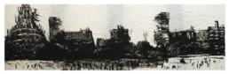 Judith Marin Partition Jour peinture acrylique sur papier de Central Park à New York