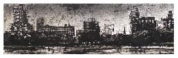 Judith Marin Partition nuit peinture acrylique sur papier de Central Park à New York