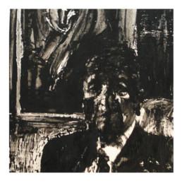 Judith Marin Portrait peinture acrylique sur papier