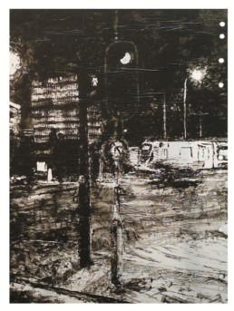 Judith Marin Feu Rouge peinture acrylique sur papier