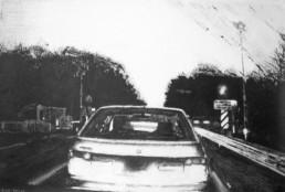 Judith Marin Passage à niveaux (fermé) peinture acrylique sur toile noir et blanc