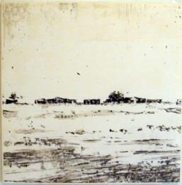 Judith Marin Lesotho peinture acrylique sur papier en Afrique du Sud