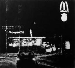 Judith Marin MacDo peinture vinylique et pigments sur toile en noir et blanc