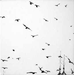 Judith Marin Oiseaux VII peinture vinylique sur toile oiseaux Venise