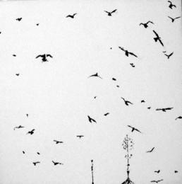 Judith Marin Oiseaux VIII peinture vinylique sur toile oiseaux Venise