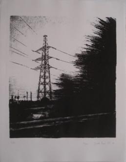 Judith Marin Pylône lithographie Galerie Daniel Leizorovici Atelier A Fleur de Pierre