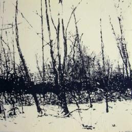 Judith Marin Sous Bois peinture acrylique sur papier
