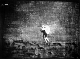 Judith Marin Walk on the Moon epinture vinylique noir et blanc sur toile pigments capture d'écran