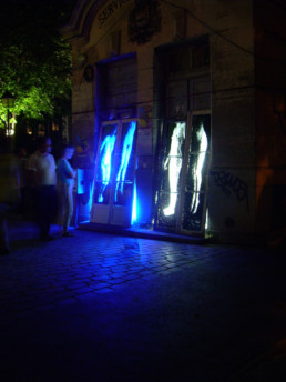 Judith Marin Installation pour la Fête des Lumières Paris 20ème