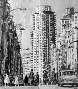 Judith Marin Madrid - izquierda derecha - peinture vinylique sur toile noir et blanc
