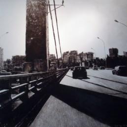 Fondation Colas Judith Marin Périph intérieur acquisitions 2012 peinture vinylique et pigments sur toile noir et blanc