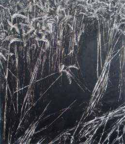 Judith Marin Gouffre peinture vinylique noir et blanc sur toile