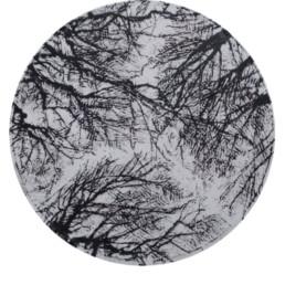 Judith Marin A la folie I peinture vinylique sur toile châssis rond