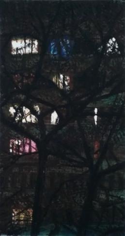 Judith Marin Intérieurs fragiles I peinture vinylique et pigments sur toile