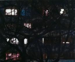 Judith Marin Intérieurs fragiles II peinture vinylique et pigments sur toile