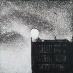 Judith Marin Mam peinture vinylique sur toile immeuble Paris